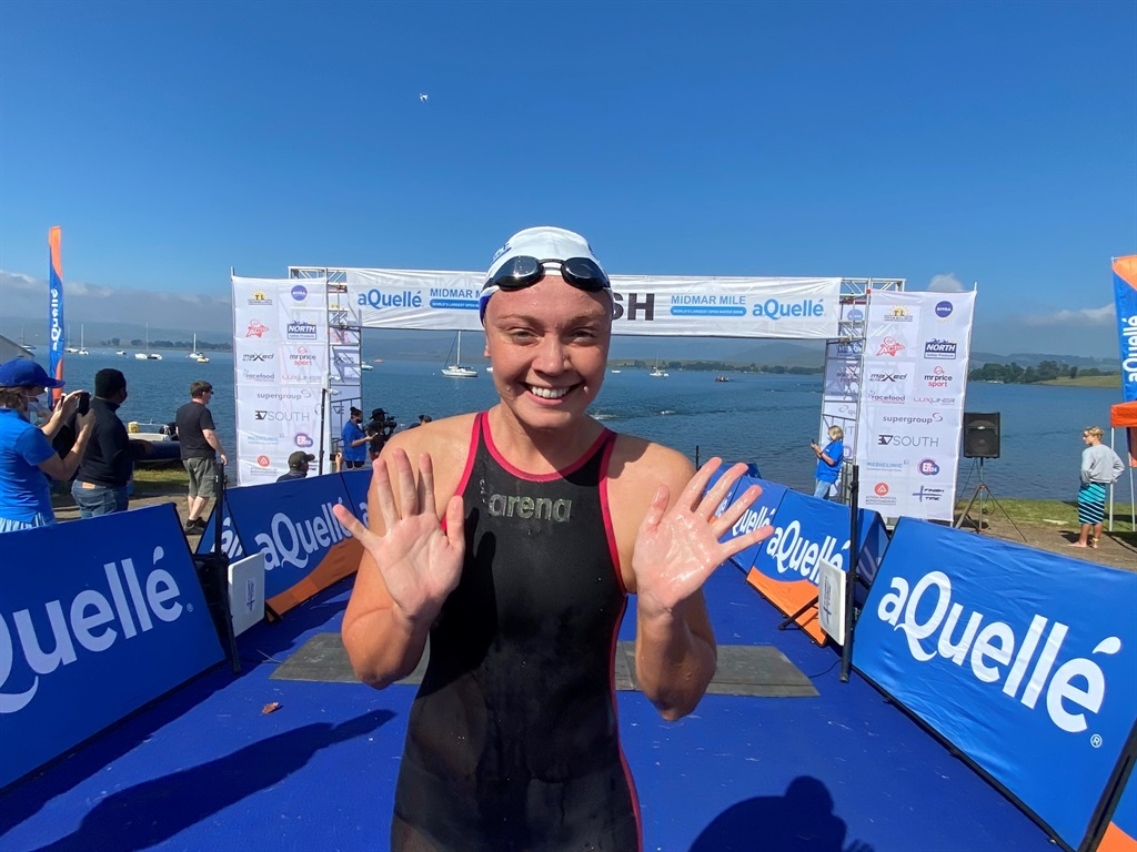 Midmar Mile women's champion Michelle Weber aims for another Olympics appearance.