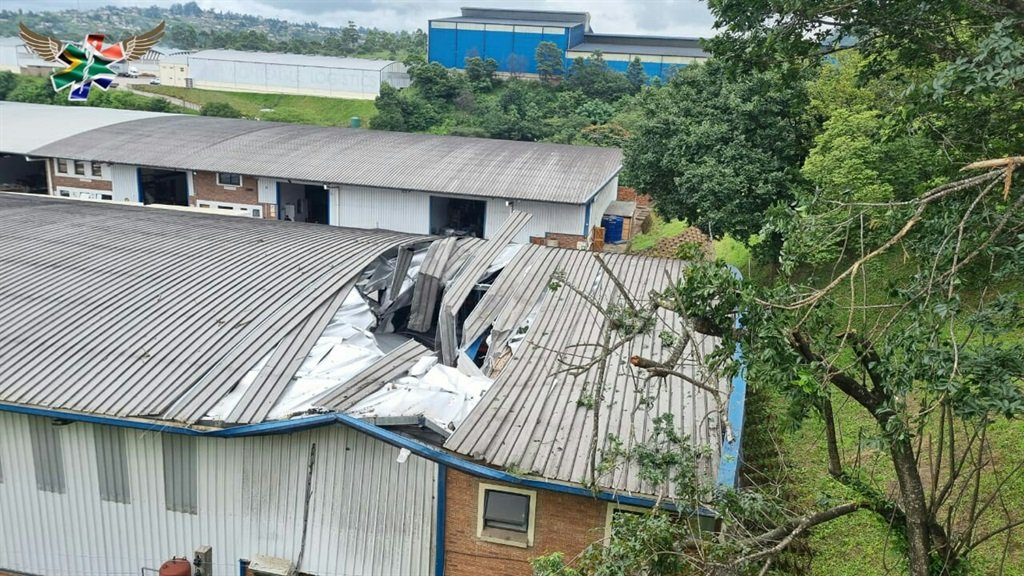 A man was seriously injured after his truck crashed into factory roof in Pinetown.