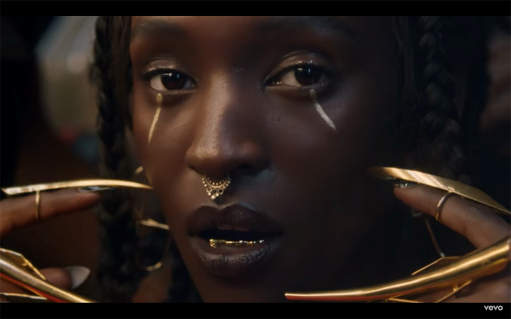 """The party-ready beats of Lous and The Yakuza - the stage-name of Congo-born, Belgium-based Marie-Pierra Kakoma - can disguise some heavy subject matter, from struggles with cancer on """"Amigo"""" to the experience of a rape victim. (Photo: Screeangrab/ Vimeo)"""