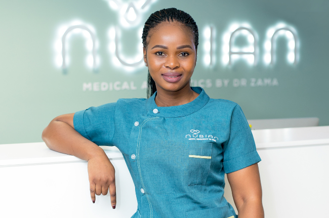 A medical doctor, Dr Zama Tladi is the founder and chief aesthetician practitioner of Nubian Medical Aesthetics in Menlyn, Pretoria.