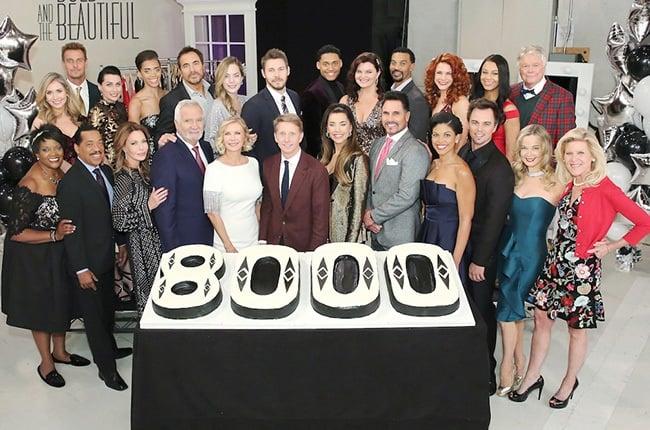 B&B cast celebrates episode 8000 on set.