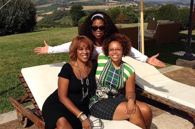 Oprah Winfrey with her best friend, Gayle King, and Gayle's daughter, Kirby Bumpus, who is also Oprah's goddaughter. (Photo: Instagram/ @gayleking)