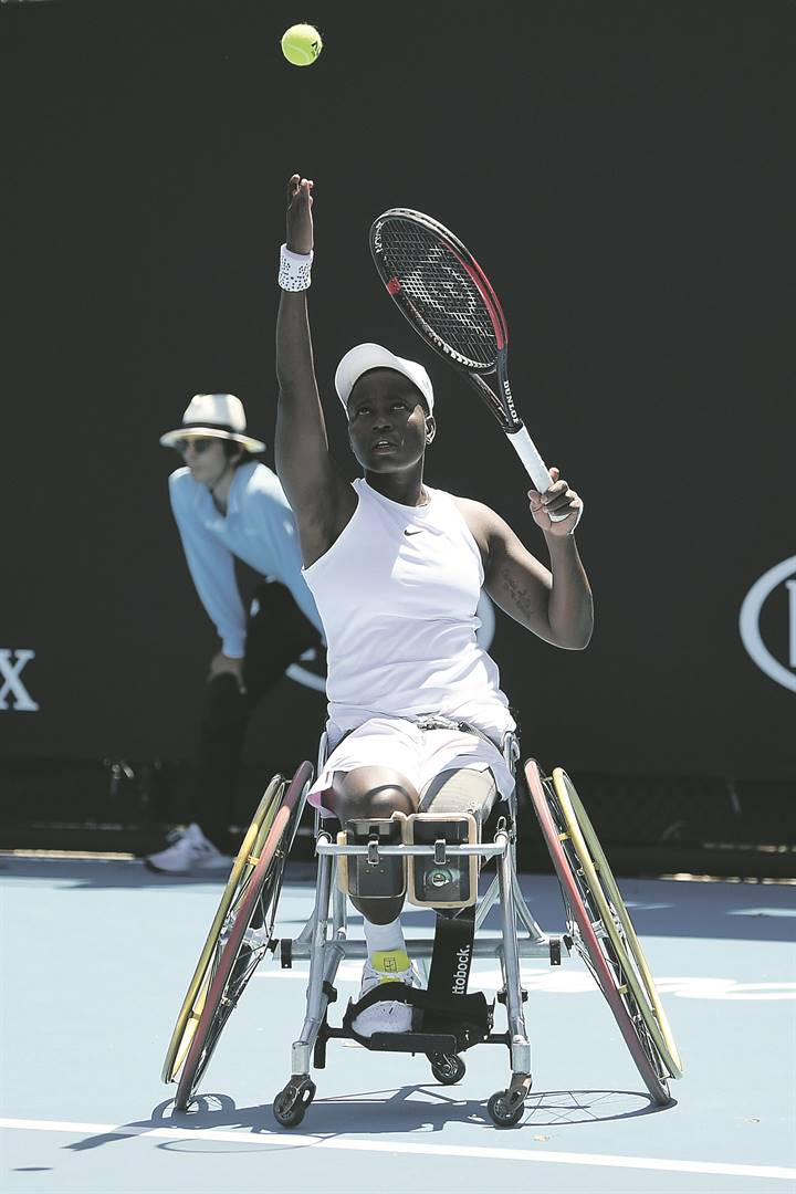 on the ballKgothatso 'KG' Montjane will return to action at the Australian Open tomorrow. Picture: Morgan Hancock / Getty Images