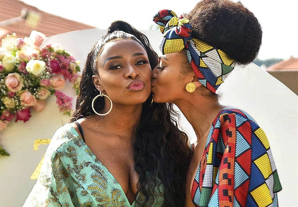DJ Zinhle and Pearl Thusi. Picture: Supplied
