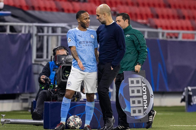 Raheem Sterling and Pep Guardiola (Getty Images)