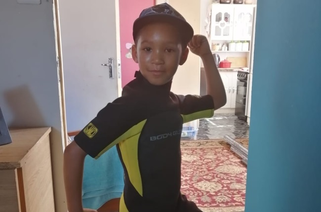 Today Fabiano Theunissen is a very confident boy and lives comfortably with his glass eye. (Photo: Supplied)