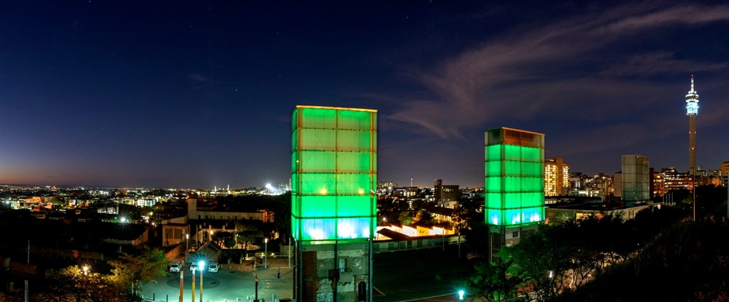 The Long March to Freedom exhibition and Constitution Hill have been lit up in green to mark St Patrick's Day.