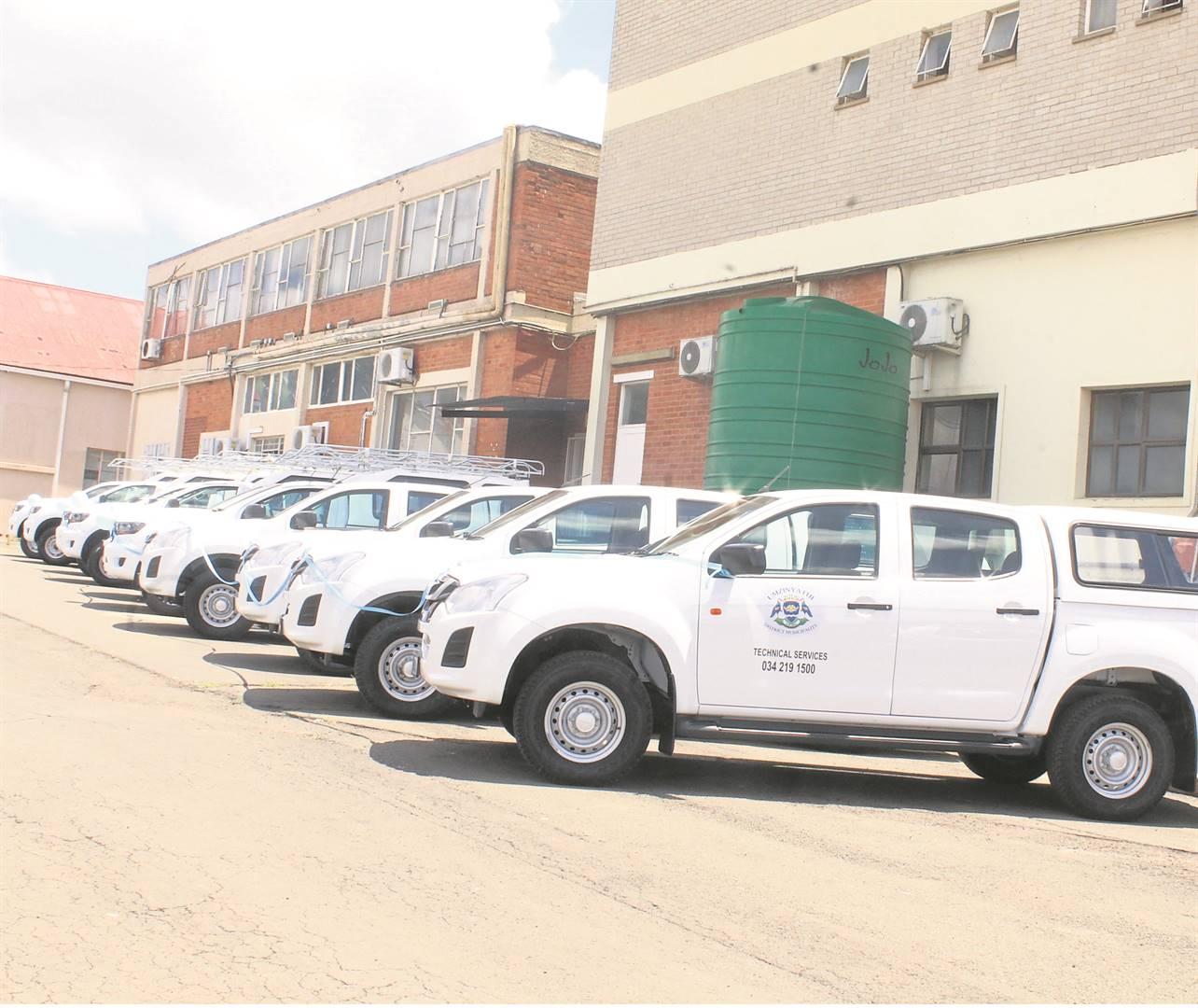 PHOTO: supplieduMzinyathi District Municipality bought another new fleet of vehicles.