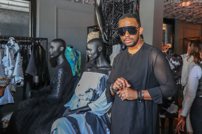 David Tlale at the opening of his Cape Town store. Image: supplied
