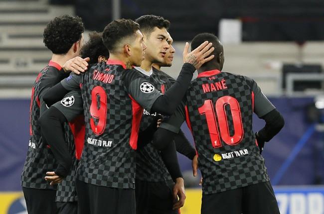 Liverpool squad celebrate goal (Press Association)