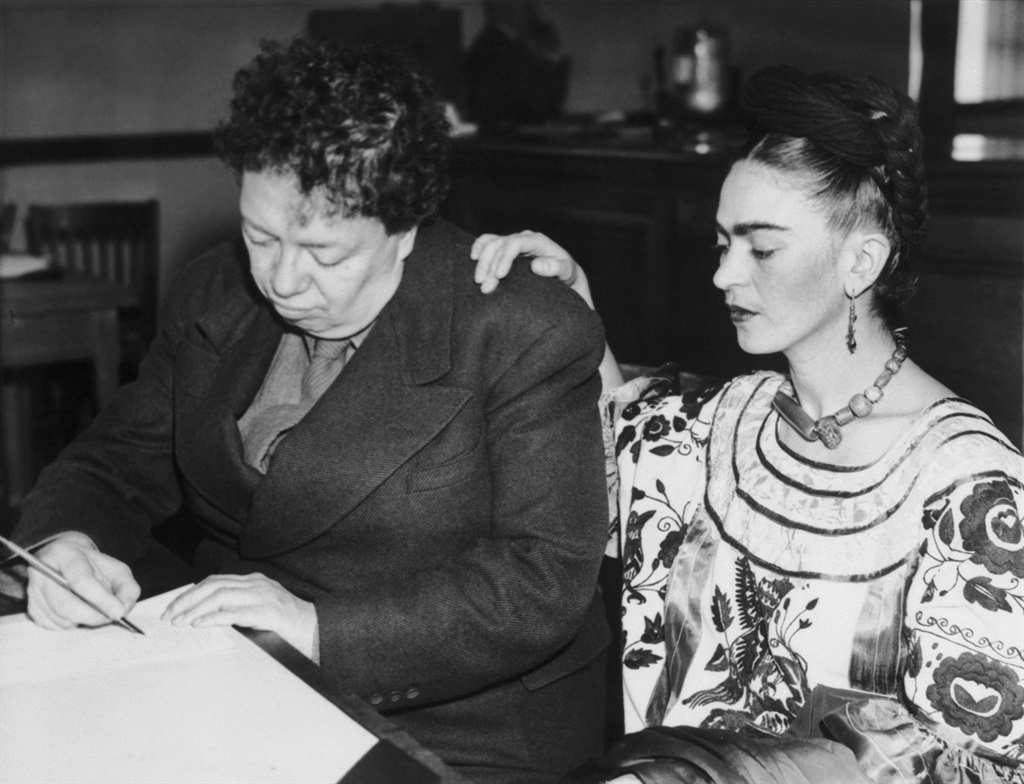 Artists Diego Rivera and Frida Kahlo divorced in 1939 but remarried on December 8, 1940, in San Francisco City Hall. (Getty Images)