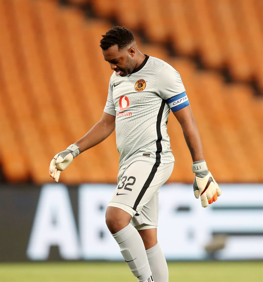 Itumeleng Khune of Kaizer Chiefs dejected during t