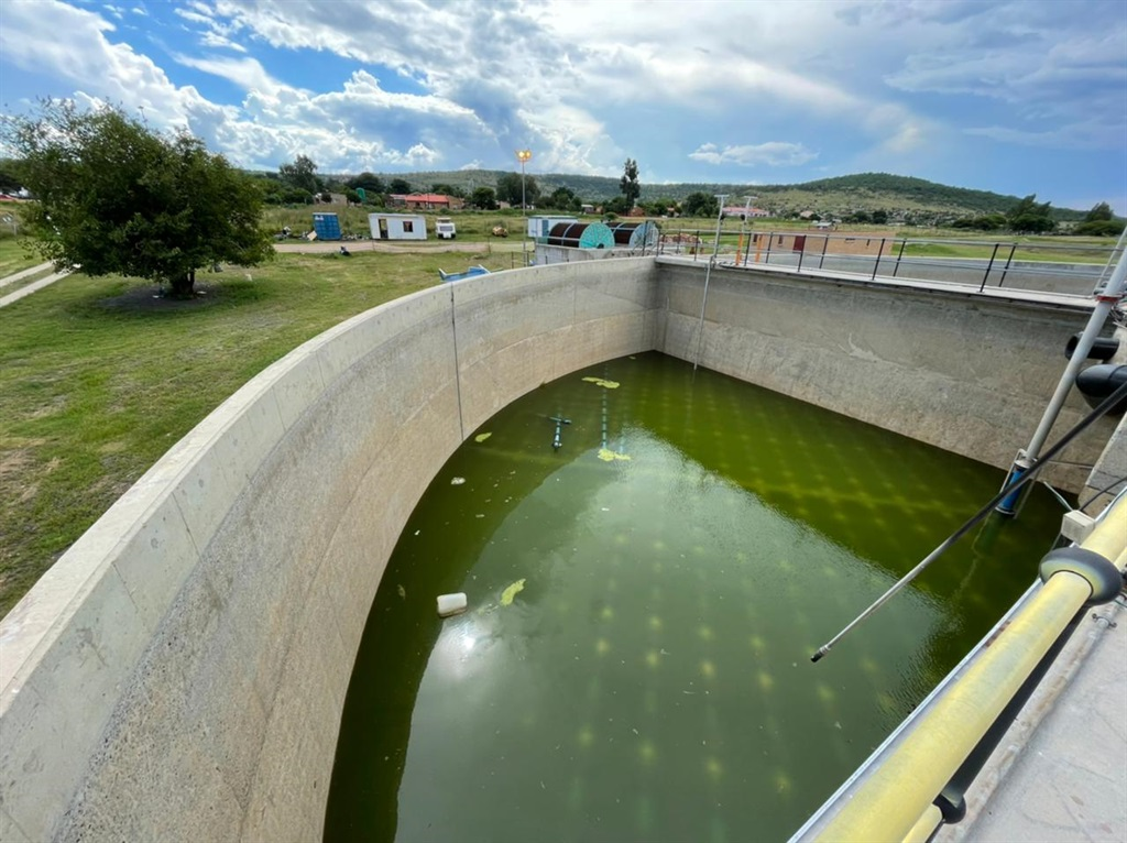 The sewage plant in Swartruggens, built in 2012, which is in a state of disrepair. It is estimated it will cost R6 million to repair. (James de Villiers, News24)