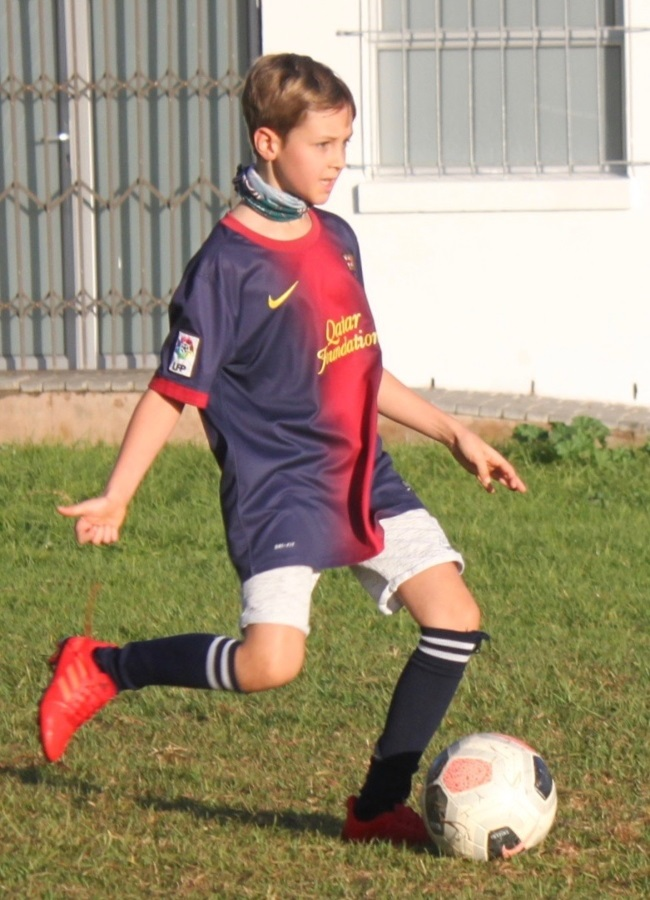 Leo, who has been playing soccer since he was two,
