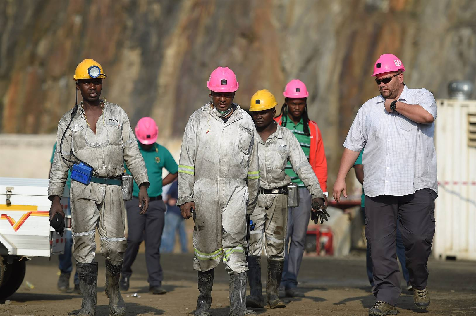 Rescue operations at the Lily Mine outside Barbeton to reach the three trapped mineworkers. The bodies were never recovered and the mine has been the source of a battle for ownership. Picture: Amcu