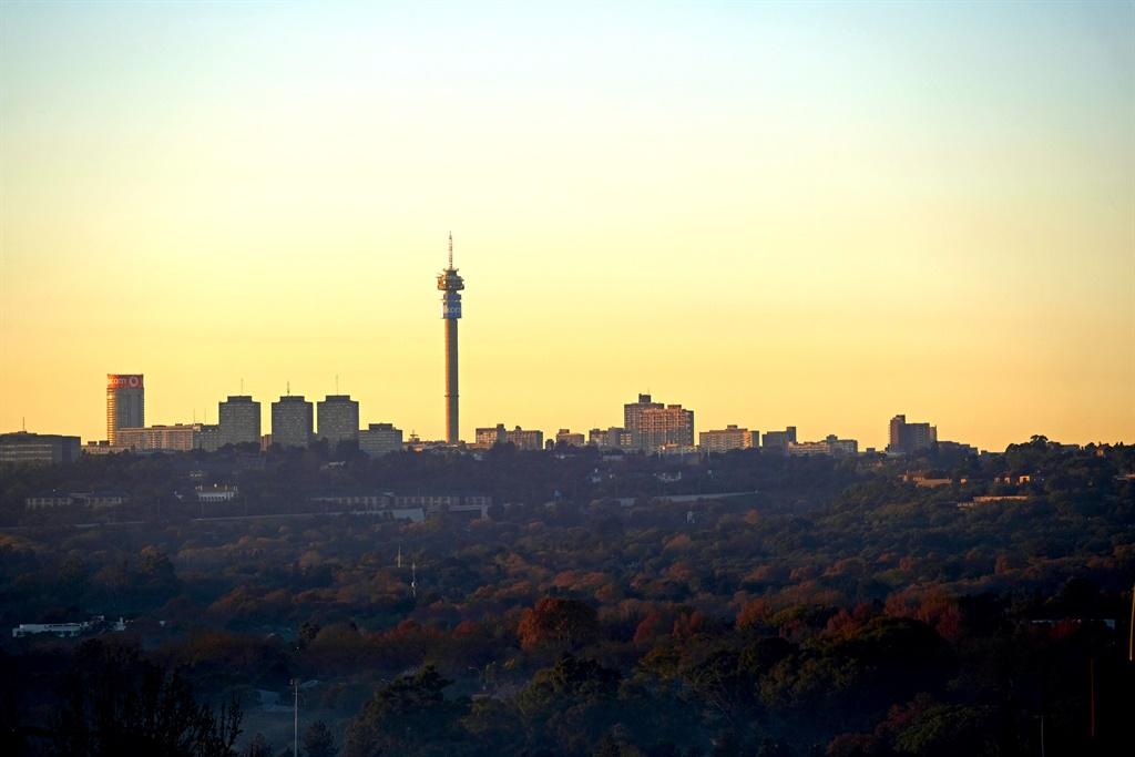 Sunrise in Johannesburg.