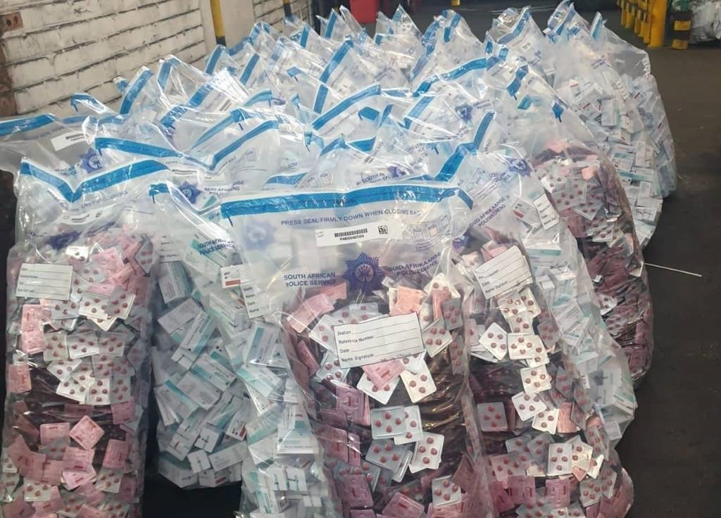 Police have made a drug bust at OR Tambo International Airport.