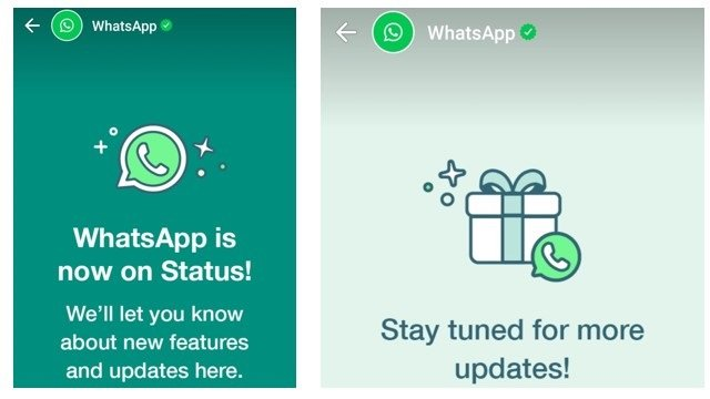 WhatsApp status messages