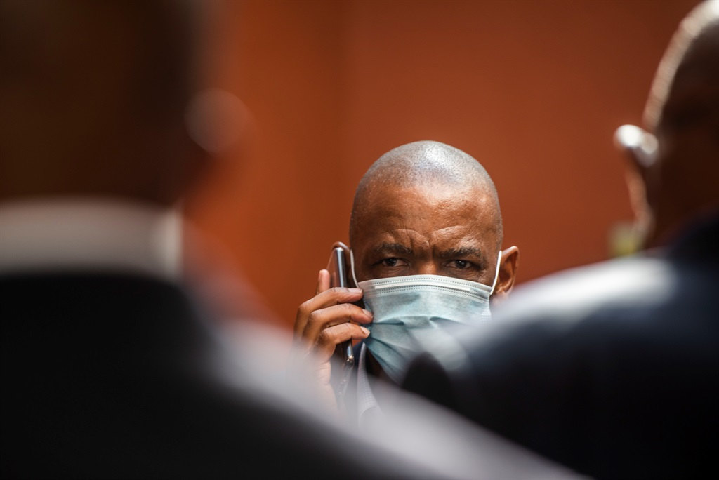 ANC secretary-general Ace Magashule during an appearance in the Bloemfontein Magistrate's Court with his co-accused.