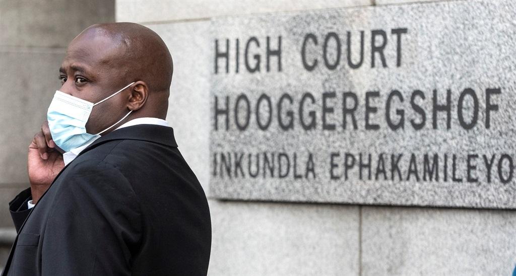 ANC MP Bongani Bongo outside the  Western Cape High Court.