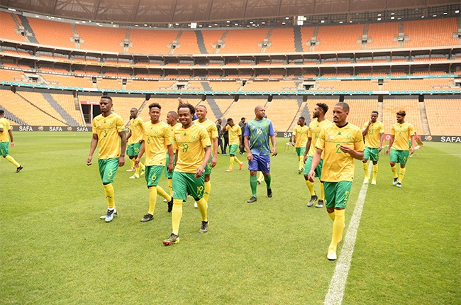 South African national mens soccer team. (Photo by Lefty Shivambu/Gallo Images)