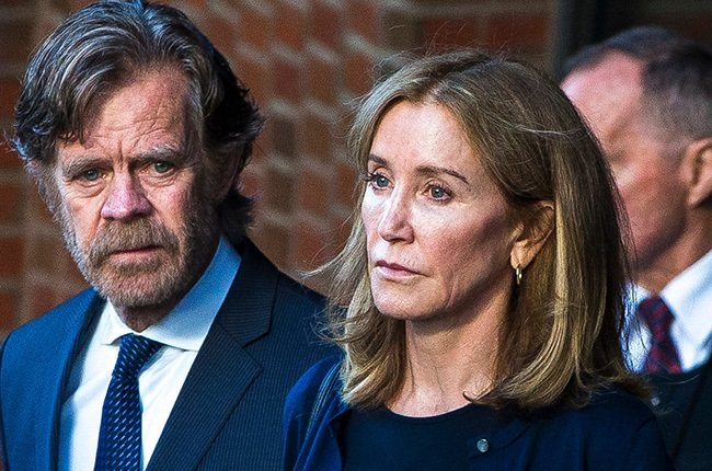 Felicity Huffman, right, and her husband, William H. Macy.