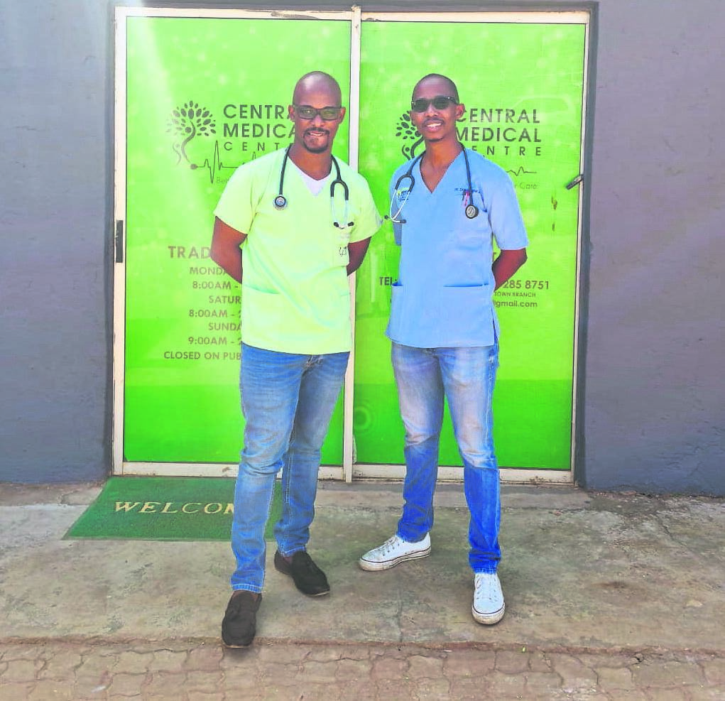 Dr Mdluli (left) and Dr Ninela who recently opened a medical centre in Taylors Halt.PHOTO: supplied