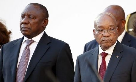 Cyril Ramaphosa and Jacob Zuma.