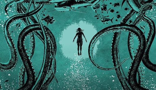 Detail from the cover of Lagoon, a novel by Nnedi Okorafor. (Joey Hi-Fi/Hodder & Stoughton)