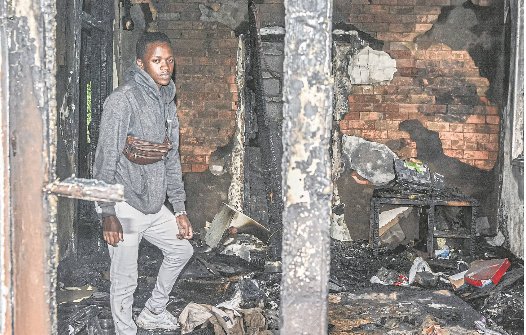 Sihle Nzimande lost all his belongings in Friday's fire in the CBD.
