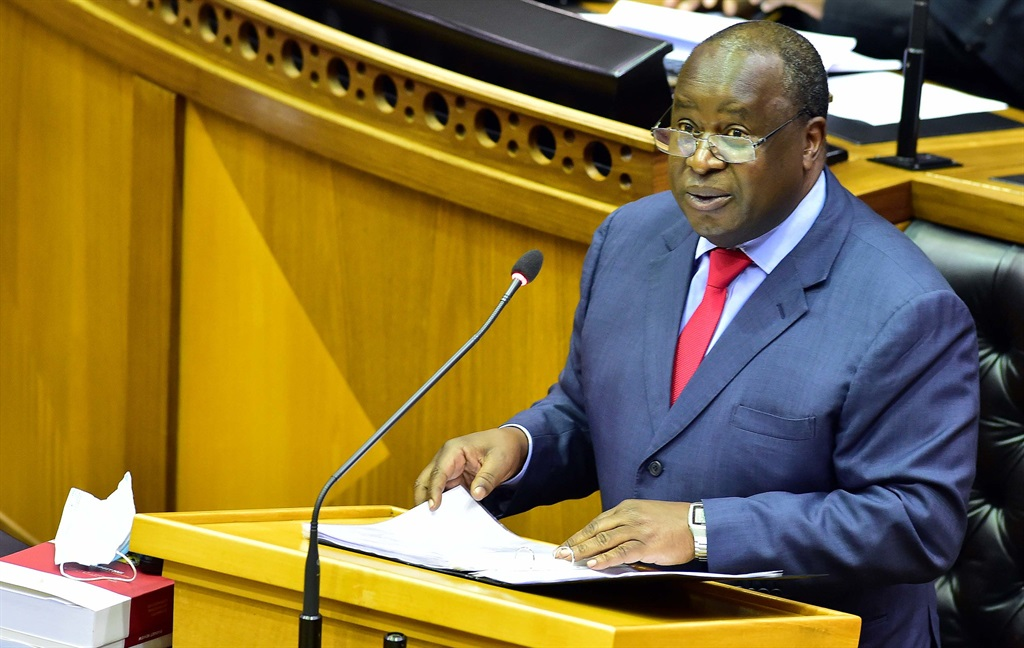 Minister Tito Mboweni delivers 2021 Budget Speech in Parliament. Picture: GCIS