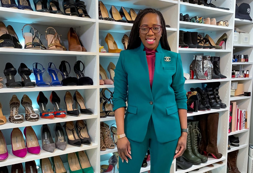 Tara with her shoe collection. Photo courtesy @esq_fashionista/ Caters News Agency/ Magazine Features