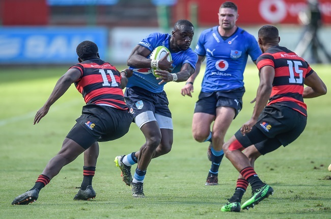 Madosh Tambwe had a bustling day out for the Bulls. (Photo by Christiaan Kotze/Gallo Images)