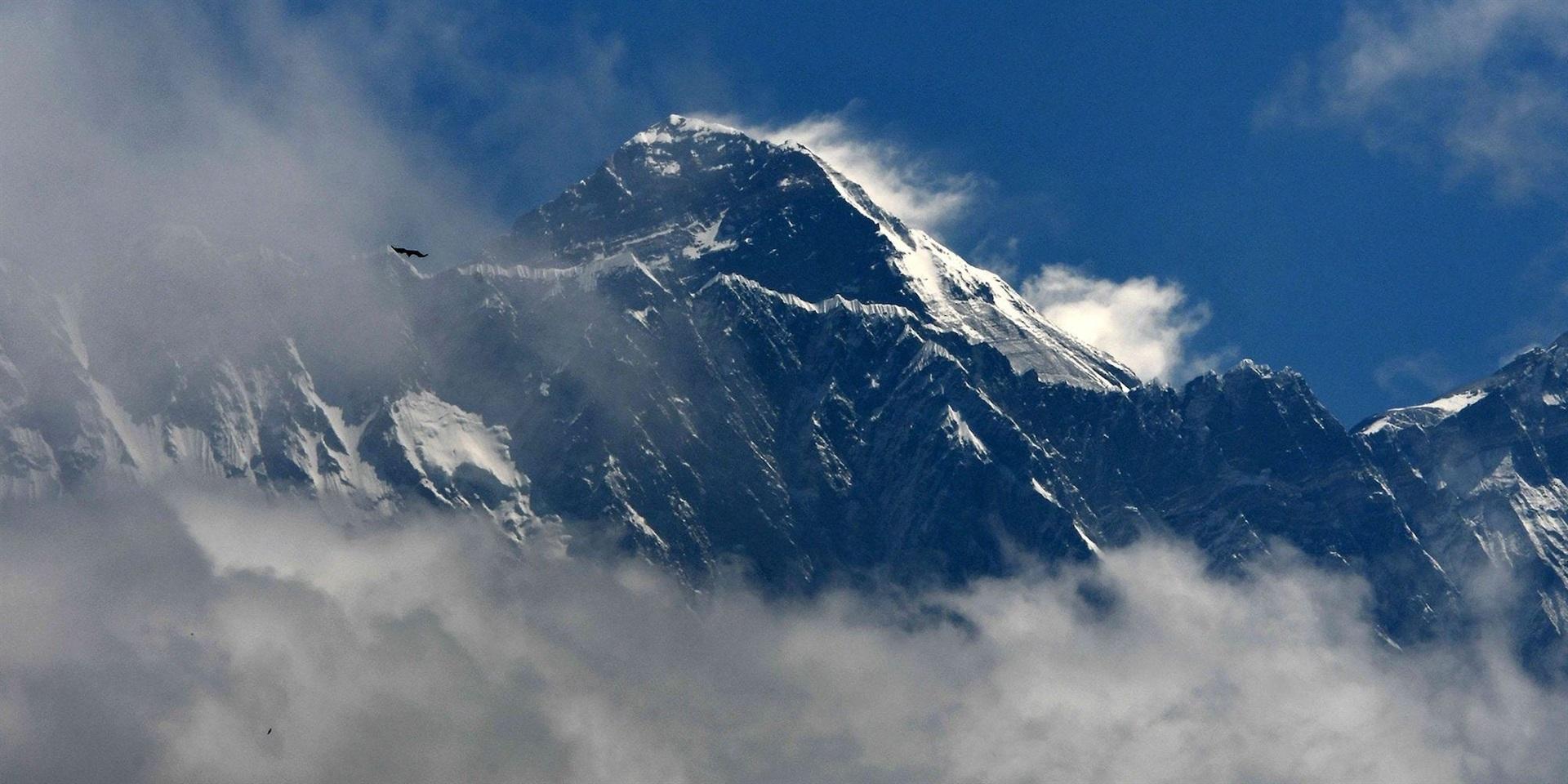 The summit of Mount Everest.