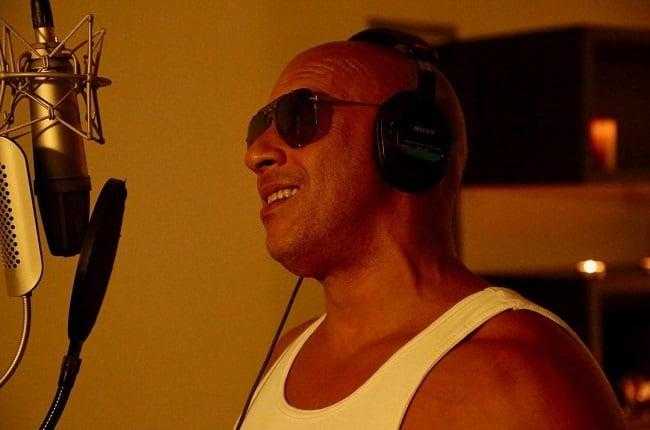Vin Diesel in the recording studio.