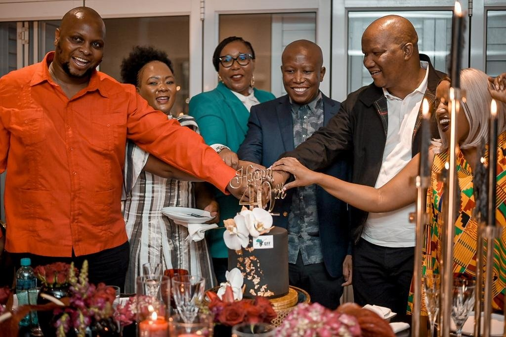 Julius Malema celebrates his 40th birthday. Image: @EFFSouthAfrica Twitter