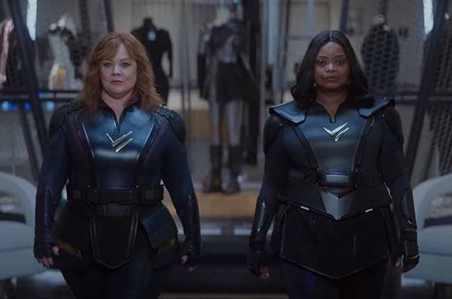 Melissa McCarthy and Octavia Spence in Thunder Force.
