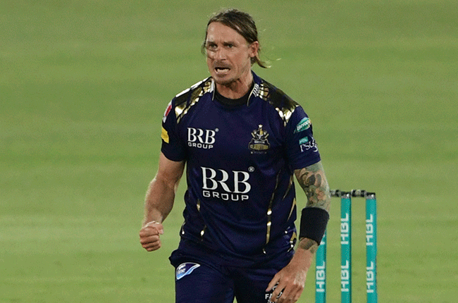 Dale Steyn in the Pakistan Super League. (Photo by Asif Hassan/AFP)