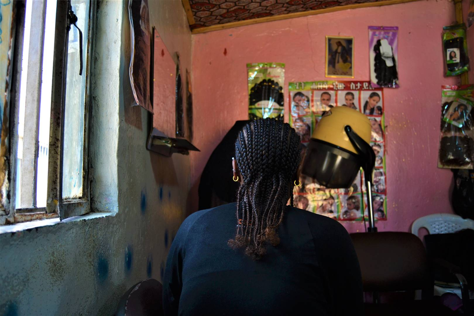little choice A commercial sex worker poses from the back in a beauty salon in Addis Ababa picture: reuters