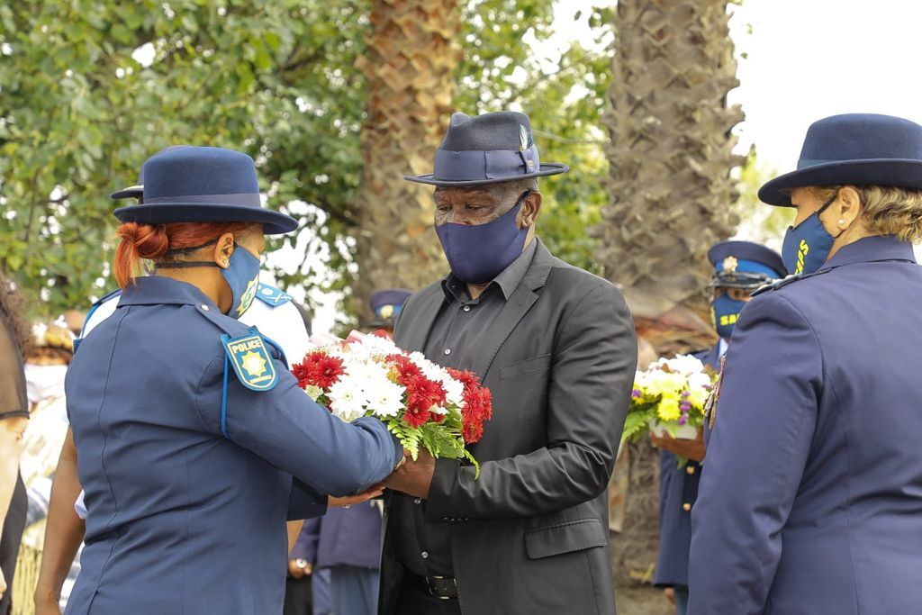 On Thursday Police Minister Bheki Cele held a memorial service for the two police officers who were ambushed on Sunday evening.