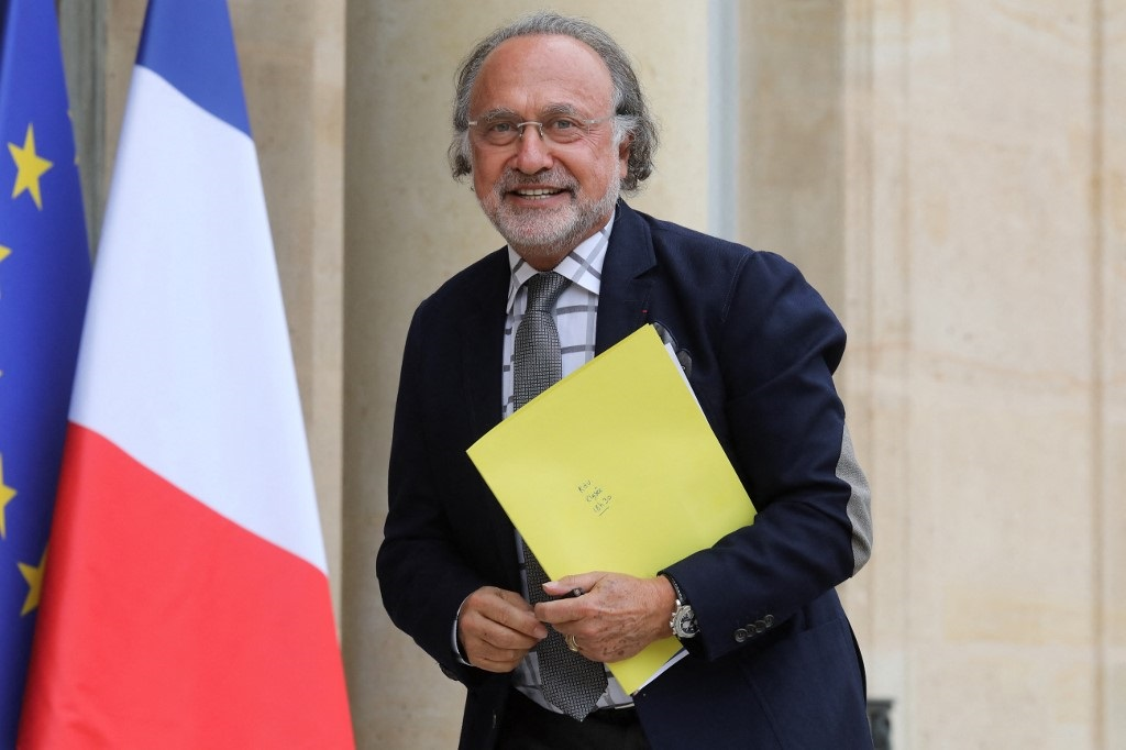 Olivier Dassault poses as he arrives at the Elysee Palace in Paris, on June 19, 2019.