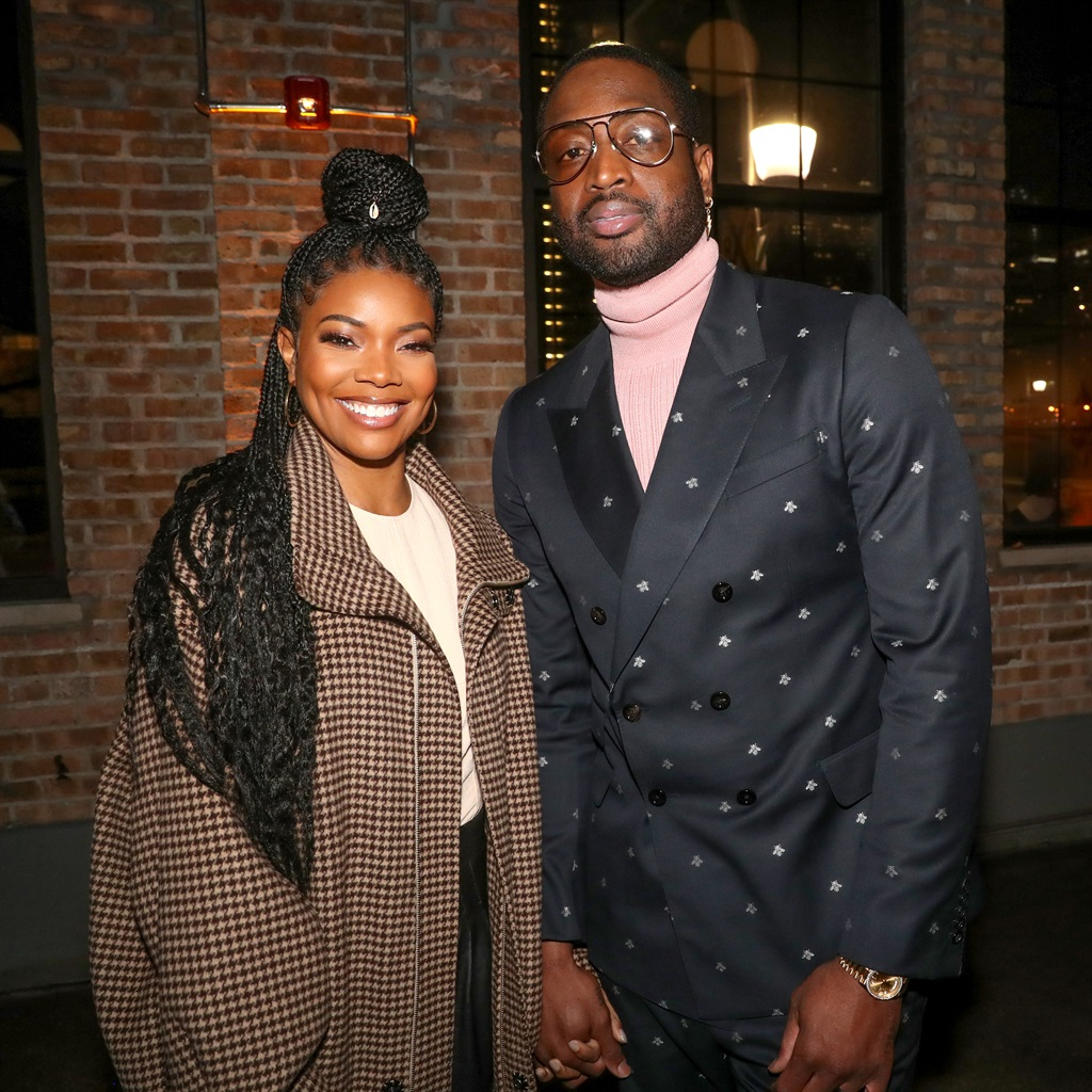Gabrielle Union and Dwyane Wade attend Stance Spades At NBA All-Star 2020 at City Hall on February 15, 2020 in Chicago, Illinois. Photo by Johnny Nunez/ Getty Images for Stance