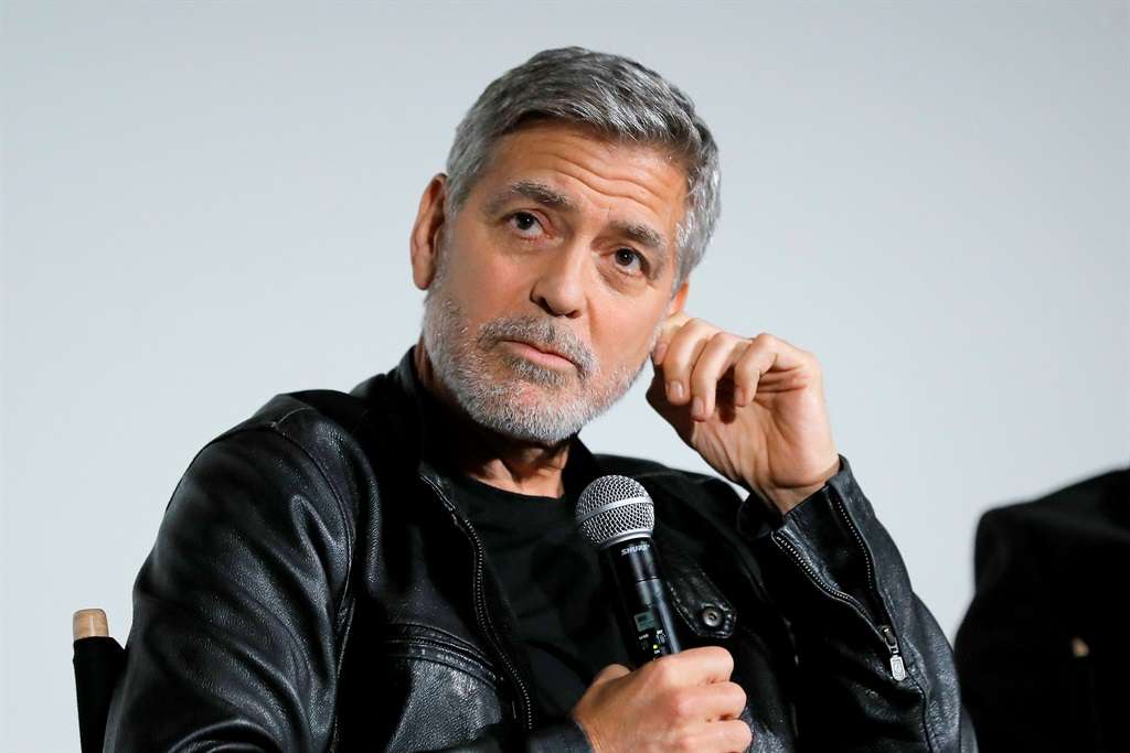 George Clooney speaks onstage during Hulus Catch-22 Screening in New York City. (Photo by JP Yim/Getty Images for Hulu)