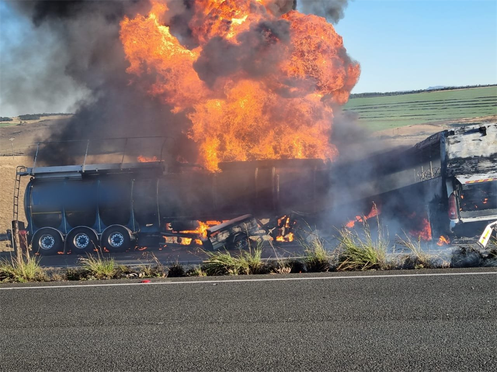 An oil tanker exploded on a KZN highway.