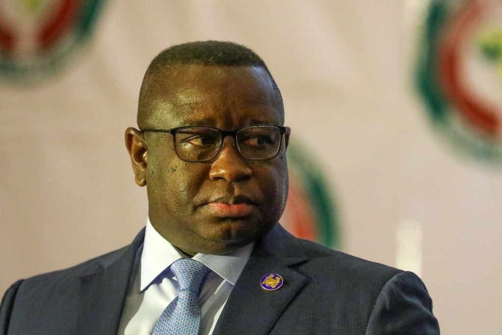 Sierra Leone President Julius Maada Bio attends at the 56th ordinary session of the Economic Community of West African States in Abuja on 21 December 2019.