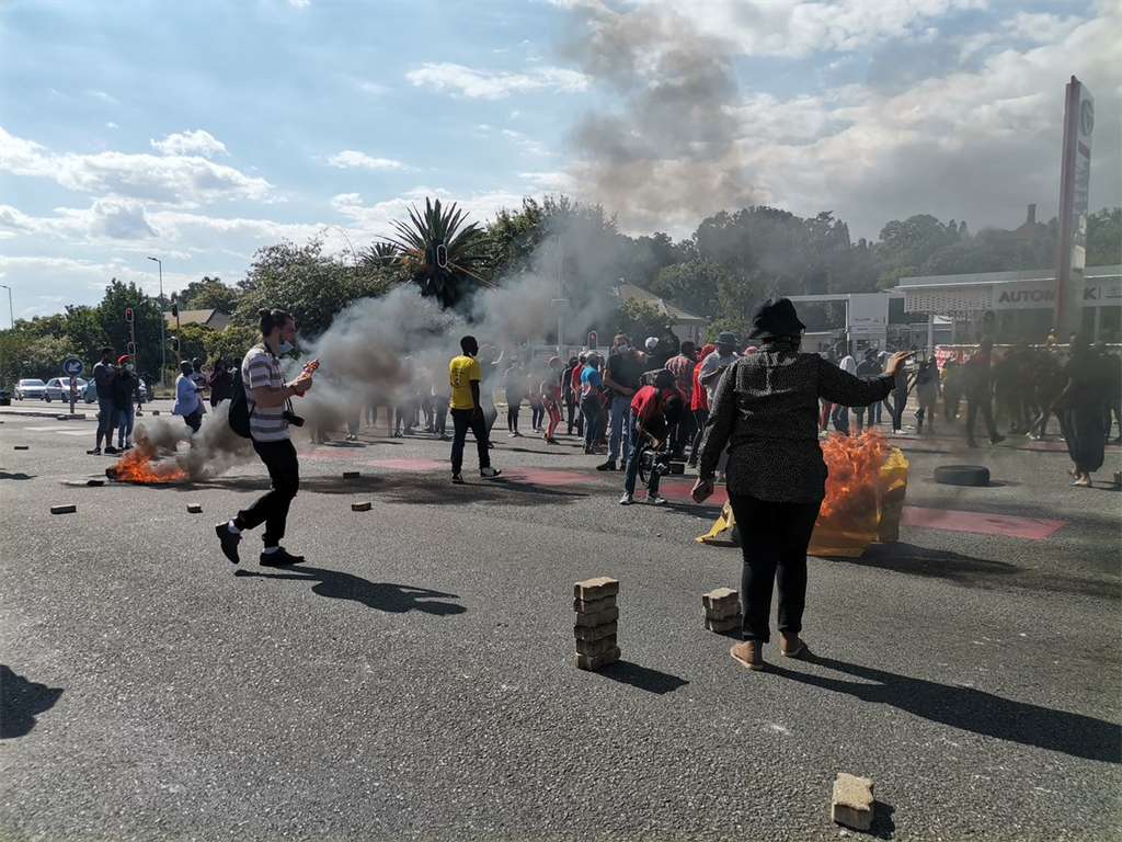 Protesting broke out at Wits University on Wednesday.