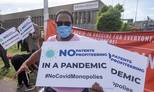 Vaccine activists, under the banner of the Covid-19 People's Coalition (C19PC), took to the streets demanding urgent vaccine rollouts for everyone.