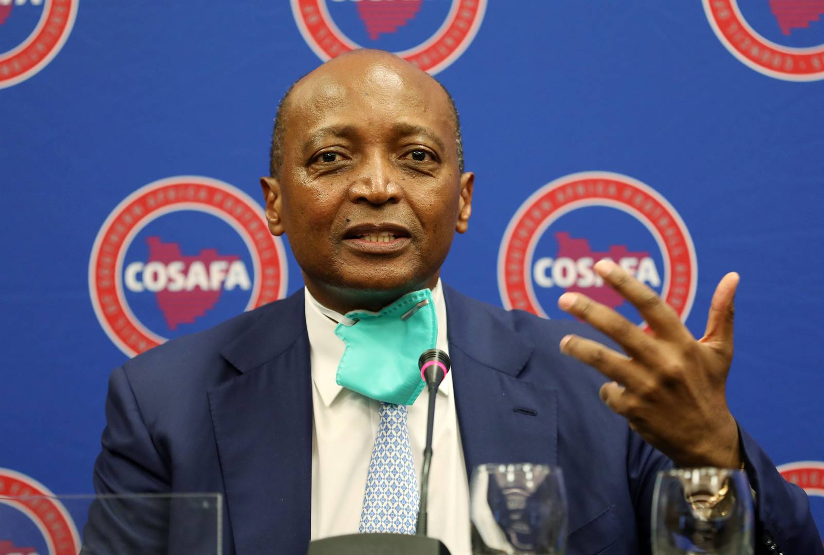 Patrice Motsepe during his guest appearance at the Cosafa annual general meeting in Sandton, Johannesburg, last month. Picture: Muzi Ntombela / BackpagePix