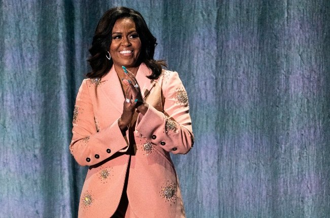 Michelle Obama has spoken about life during the pandemic – including teaching herself to knit. (CREDIT: Gallo Images / Getty Images)