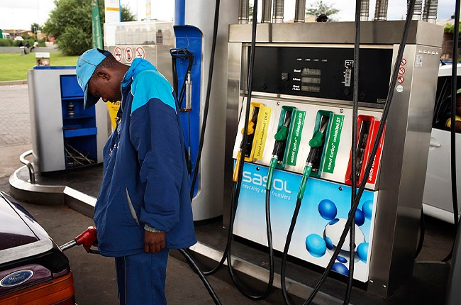Filling up at a South African fuel station